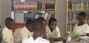 volunteer as a librarian in Ghana